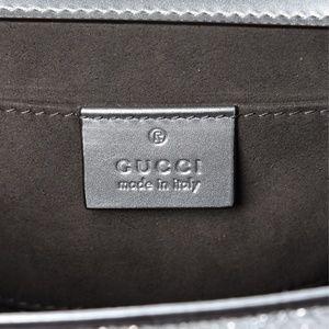Gucci Bags - GUCCI silver/gold metallic laminate padlock bag